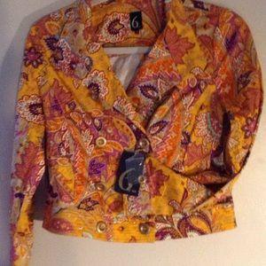 Jackets & Blazers - 6 by six paisley short jacket